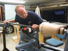 Ken at Lathe